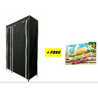 FREE 1 PCS TOWEL WITH Folding wardrobe almirah A-2 light and Trendy