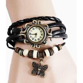 Pretty girl stylish vintage bracelet watch.
