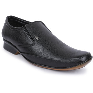 Action-Dotcom MenS Black Formal Slip On Shoes