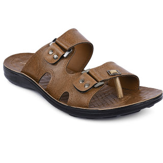 Action-Flotters MenS Tan Sandal