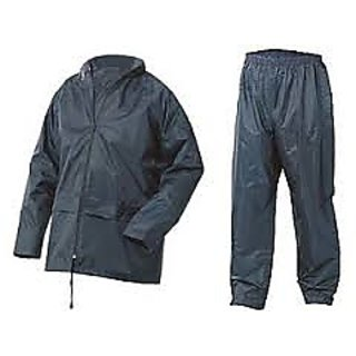 Blue Raincoat With Lower And Cap (3 In 1)