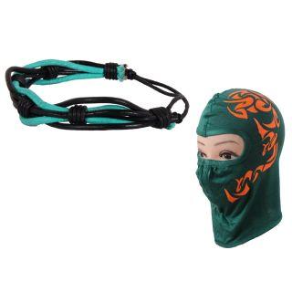 sushito Coloured Thread Wrist Band Combo Face Mask JSMFHWB0719