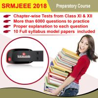 SRM Engineering Entrance 2018 Preparatory Course with 10 Model Papers (Pendrive)