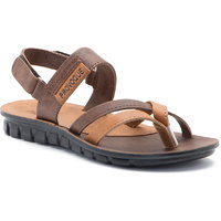 Provogue MenS Brown Tan Casual Sandals (PV1109-Brown/Tan)