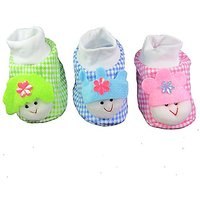 EIO NEWBORN INFANT BABY GIRL/BOY SOCKS/ COTTON BOOTIES (PACK OF 3 PAIRS)