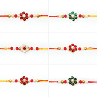 S.B.Enterprises Yellow Color Male Combo Of 6 Rakhi