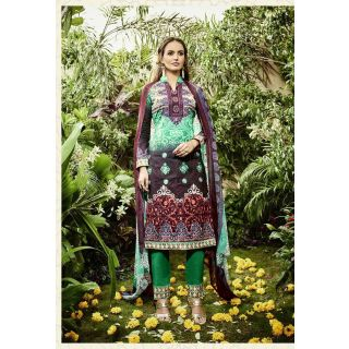 RapidDukan Un-Stitched Multy Color Staight Salwar Suit Dupatta Material SF642