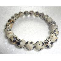 Dalmatian Jasper Power Bracelet Crystal 8 Mm AAA+++