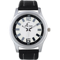 Jack Klein Stylish Analog Black Leather Imperial Watch For Men
