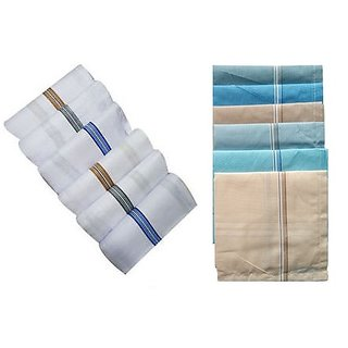 6+6 Gents Handkerchiefs