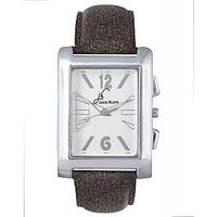 Jack Klein Rectangle Stylish Brown Strap Anlong Watch For Men