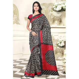 Sareemall Multi Colour  Khadi Silk  Saree with Unstitched Blouse HRV8308