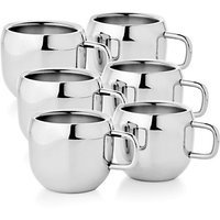 Boskina Stainless Steel Tea Coffee Apple shape cup set-pack of 6 pcs
