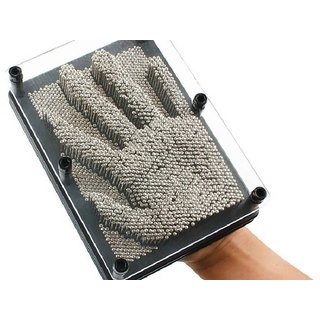 Pin Art Impressions Instant Easy Safe Hand Art Wall Piece by Flintstop