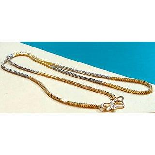 Pletinum and gold pleting chain