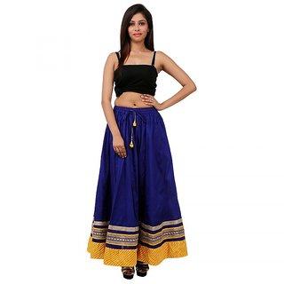Gurukripa Shopee Eye-Catching Beige Cotton Solid  Skirt GKS019