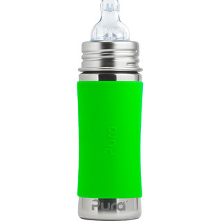 PURA 11OZ/325ML GREEN SLEEVES BOTTLE WITH SIPPY XL SPOUT