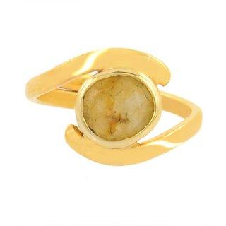 Jaipur gemstone 3.25 ratti yellow sapphire (Asthadhatu ring).