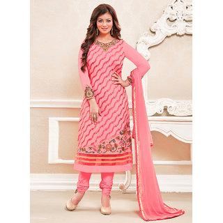 Vastrani Pink Georgette Embroidered Party Wear Salwar Suit 395DR7002