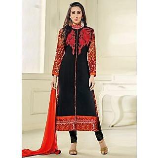 Vastrani Black Georgette Embroidered Party Wear Salwar Suit 397DR40004