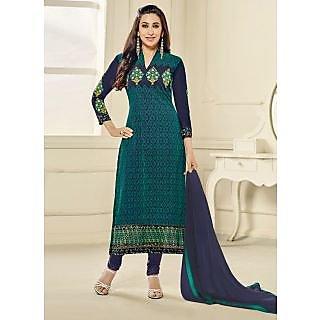 Vastrani Dark Grey Georgette Embroidered Party Wear Salwar Suit 397DR40005