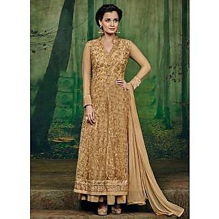 Vastrani Beige Net Embroidered Party Wear Salwar Suit 400DR3001