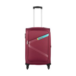 Safari Large (Above 70 cms) Red Polyester 4 Wheels Trolley