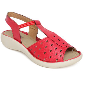 Vendoz Women Red Sandals