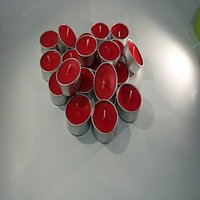 Set Of 50 Red Tea Light Candles