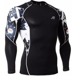 nesamans men gym fashion printed tshirt black in colour