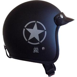 Retro styled JetStar Helmet ( ISI Approved ) (Matt Black)