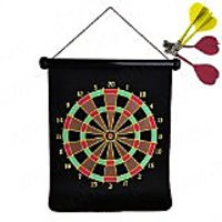 Eagles Double-Sided Foldable Dart Board 12 inches - 4 Magnetic Darts for Total Safety - Fun for All