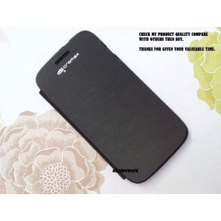 Micromax A 116 Canvas Hd Battery Back Replace Detachable Flip Case Black Og