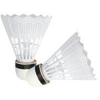 Nylon Badminton Shuttlecock- White (Pack of 10)