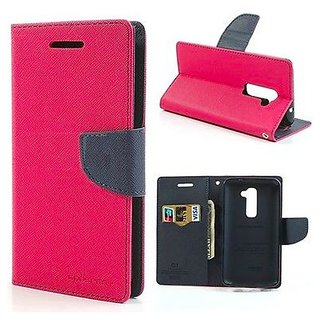 micromax canvas spark Q380  flipcover pink