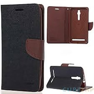 micromax canvas spark Q380 flipcover brown