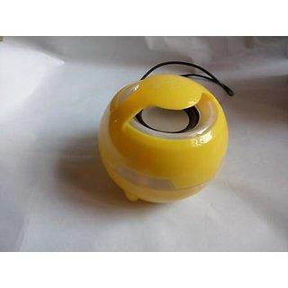 Flex-Gold-Smiley-Shape-Portable-Speaker-Aux-Yellow-+-Free-Handsfree-(Earphone)-worth-Rs.-75