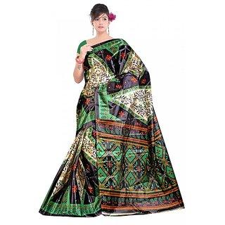 Kvsfab  Multicolor 40 Gram Silk tafeta sari KVSSR9014TAFET