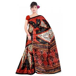 Kvsfab  Multicolor 40 Gram Silk tafeta sari KVSSR9017TAFET