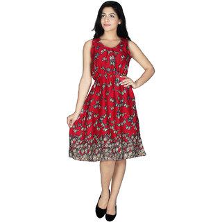 Western Dresses In Multi Colors and PrintsDressPinkAmerican Crepe