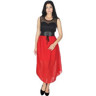Western Dresses In Multi Colors and PrintsDressRedGeorgette