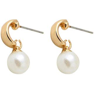 Gold Pearl Drop Earring