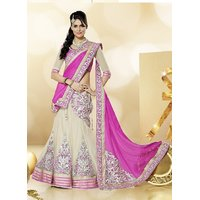 Janasya Wedding Wear Patch work Lehenga With UnStitched Blouse ( colors available)