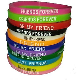 Multicolour Friendship Band Pack of 10