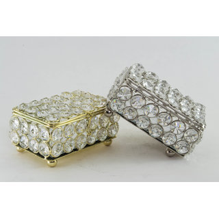Rectangle Crystal Tray-Small Gold