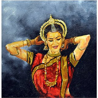 JC PAINTINGS  Hand Painted Dancer Painting