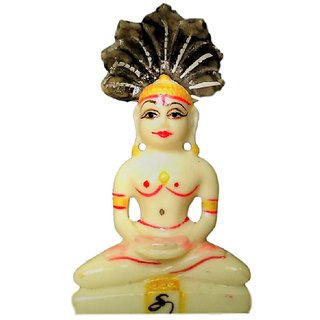 Parshwanath Statue With Sheshnaag - 9 cms Height