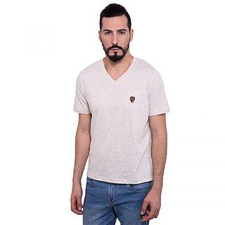 DAPPLE GREY Mens Casual Wear Simple V neck Tshirt