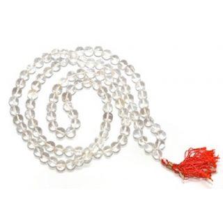 Astrodidi Sphatik Mala 21 Gram (108+1 Beads) Lab Certified also known as Crystal Yantra