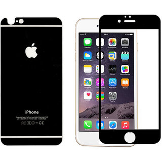 Apple iPhone 6 Plus- Black Tempered Glass Screen Guard